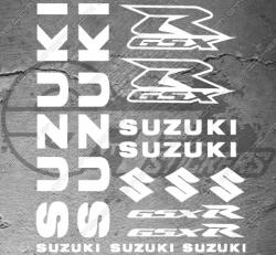 Planche XXL - 14 Stickers Suzuki GSX-R
