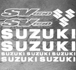 Planche XXL - 12 Stickers Suzuki SV 650
