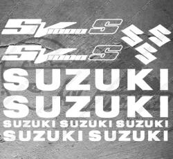 Planche XXL - 12 Stickers Suzuki SV 1000 S