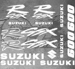 Planche XXL - 12 Stickers Suzuki 600 GSX-R