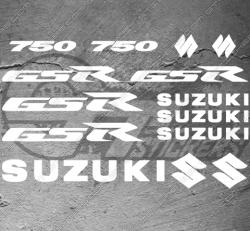 Planche XXL - 14 Stickers Suzuki 750 GSR