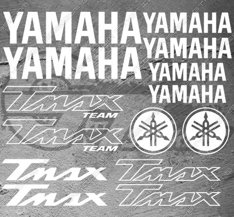 Planche de 14 Stickers Yamaha TMAX TEAM