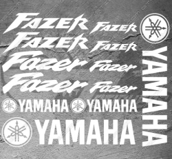 Planche 16 Stickers Yamaha FAZER