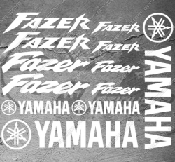 Planche 16 Stickers Yamaha FAZER Alternative version