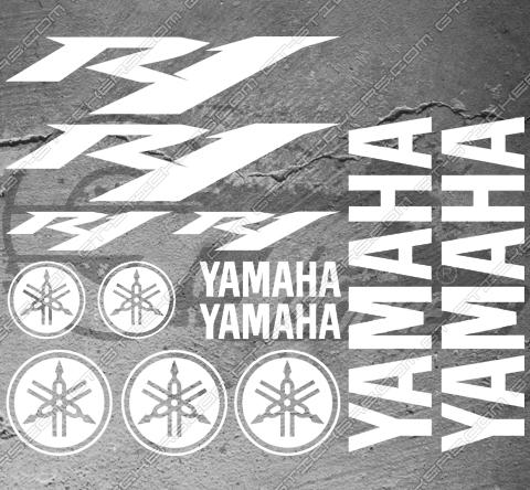 4 Stickers YAMAHA FZ8 Déco intérieur jantes Moto