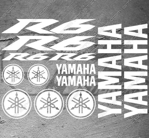 4 Stickers YAMAHA YZF R6 Déco intérieur jantes Moto
