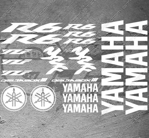 4 Stickers YAMAHA FJR Déco intérieur jantes Moto