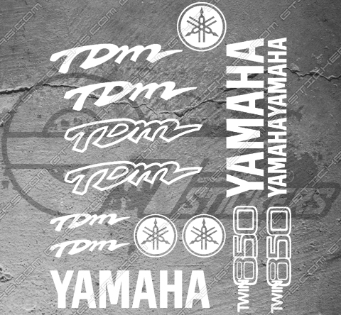 Planche Xxl 17 Stickers Yamaha Tdm Twin 850