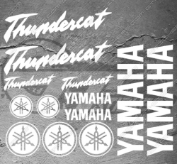 Planche XXL - 13 Stickers Yamaha Thundercat