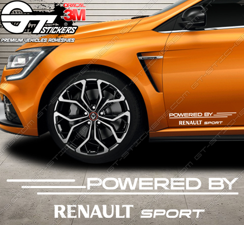 Kit de 2x stickers Powered by Renault Sport