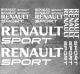 Planche 11 Stickers Renault Sport