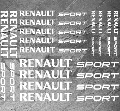 Planche XL 15 stickers Renault Sport