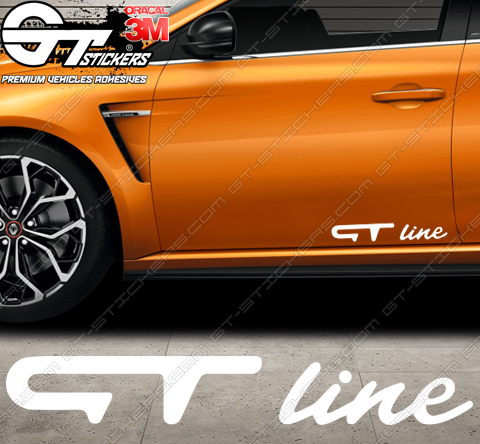 Stickers Renault GT Line, taille au choix