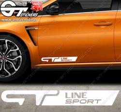 Stickers Renault GT Line sport, taille au choix