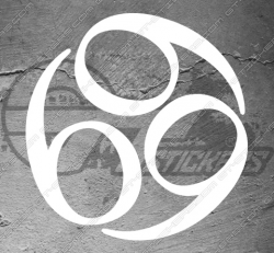 Stickers Triquetra 666