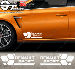 Kit 2x Stickers Damiers Renault RS16