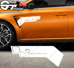 Kit 2x Stickers Renault Trophy World series