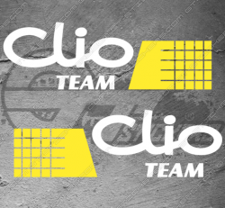 Kit 2x Stickers Renault Clio RS Team 2004
