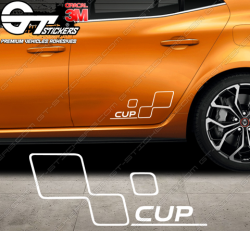 Kit 2x Stickers Renault sport Damiers Cup