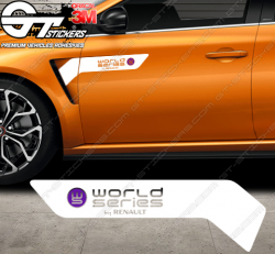 Kit 2x Stickers World Series by Renault (WSR)