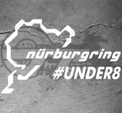 Stickers Nurburgring Under8, taille au choix
