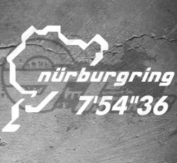 """Stickers Nurburgring 7'54""""36, taille au choix"""