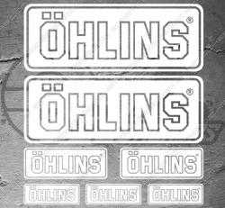 Planche de 7 Stickers Ohlins