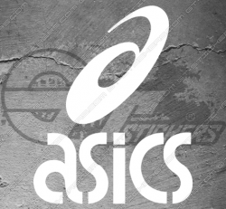 Stickers Asics, taille au choix