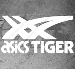 Stickers Asics Tiger, taille au choix