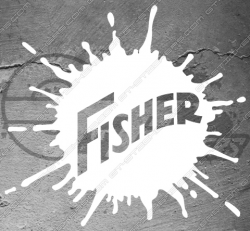 Stickers Fisher, taille au choix