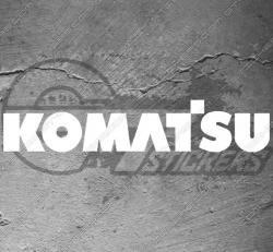 Stickers Komatsu, taille au choix