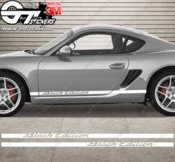 Kit bandes latérales Porsche Cayman Black Edition
