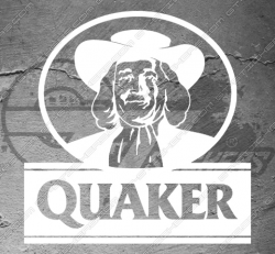 Sticker Quaker, taille au choix