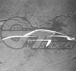 Stickers Silhouette Porsche Cayman