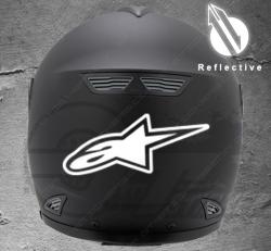 Stickers rétro-réfléchissant pour casque Alpine