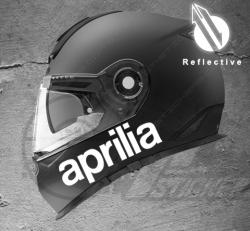 Stickers rétro-réfléchissant pour casque Aprilia