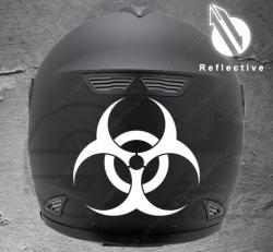 Stickers rétro-réfléchissant pour casque Biohazard
