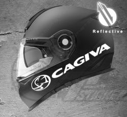 Stickers rétro-réfléchissant pour casque Cagiva