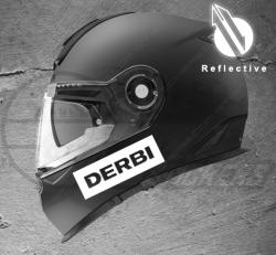 Stickers rétro-réfléchissant pour casque Derbi