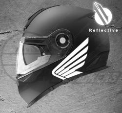 Stickers rétro-réfléchissant pour casque Honda