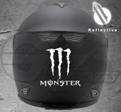 Stickers rétro-réfléchissant pour casque Monster