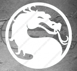 Stickers Mortal Kombat, taille au choix