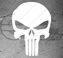 Stickers The Punisher, taille au choix