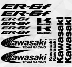 Planche XXL - 14 Stickers Kawasaki ER-6F Team Racing
