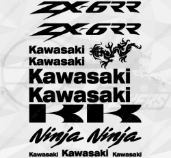 Planche de 14 Stickers Kawasaki ZX-6R NINJA
