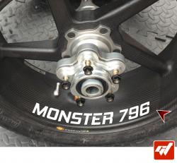 4 Stickers DUCATI Monster 796 Déco intérieur jantes moto