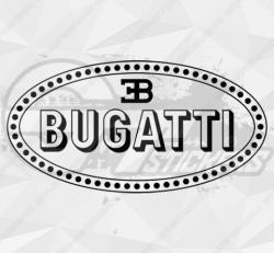 Sticker Logo Bugatti 3