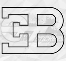 Sticker Logo Bugatti 2