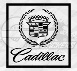 Sticker Cadillac Logo 4