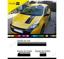 Stickers Bandes Capot, Coffre et Toit CLIO CUP